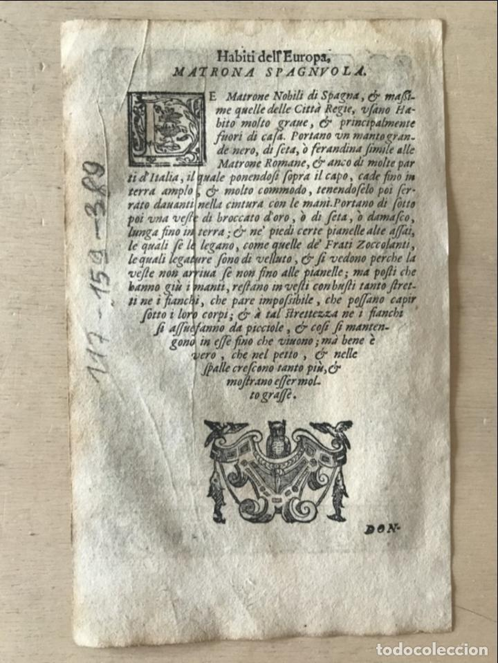 Arte: Xilografía matrona de España, 1590. Vecellio/Krieger/Zenaro - Foto 9 - 261611460
