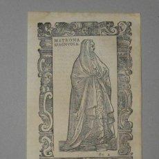 Arte: XILOGRAFÍA MATRONA DE ESPAÑA, 1590. VECELLIO/KRIEGER/ZENARO. Lote 261611460