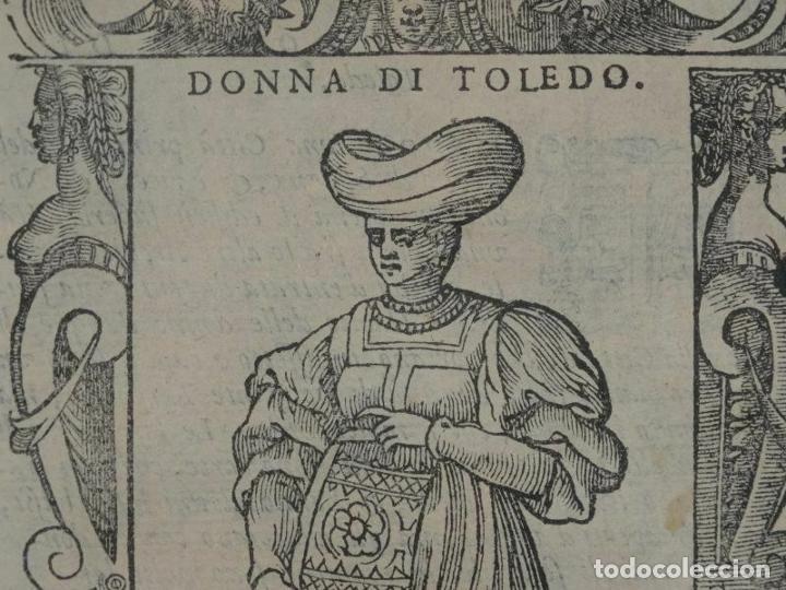Arte: Xilografía de mujer Toledo (España), 1590. Vecellio/Krieger/Zenaro - Foto 2 - 261613945
