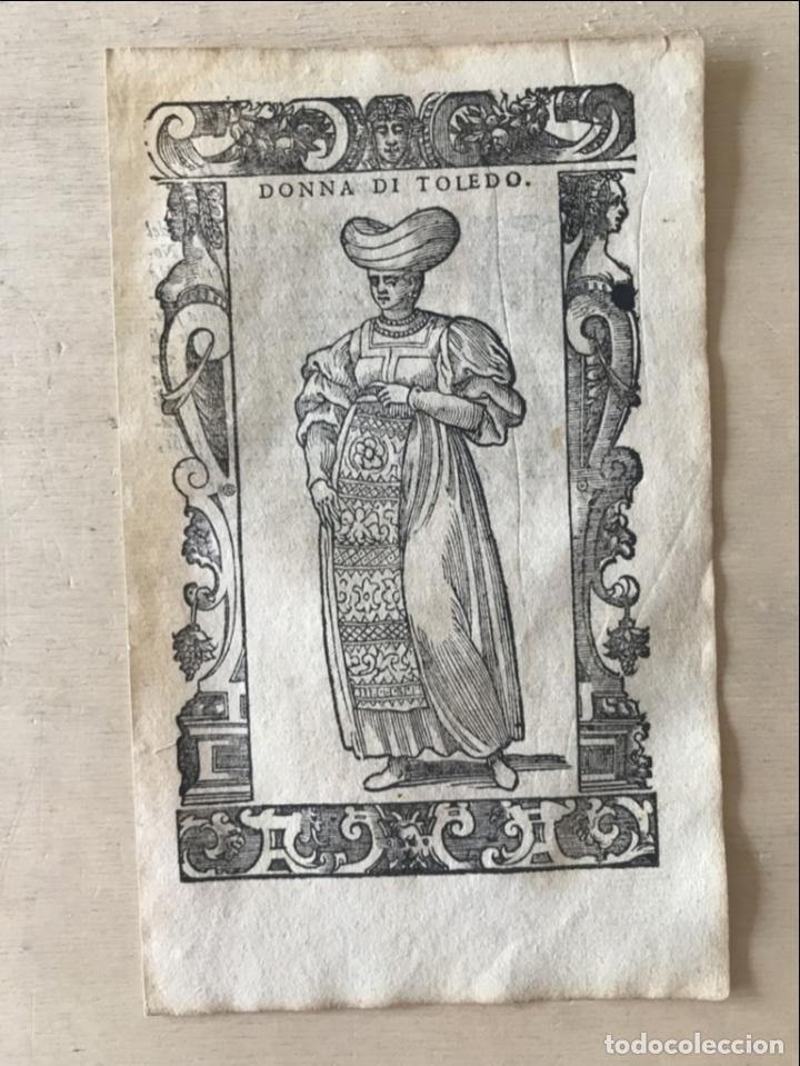 Arte: Xilografía de mujer Toledo (España), 1590. Vecellio/Krieger/Zenaro - Foto 4 - 261613945