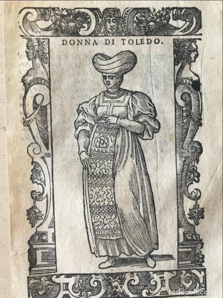 Arte: Xilografía de mujer Toledo (España), 1590. Vecellio/Krieger/Zenaro - Foto 5 - 261613945