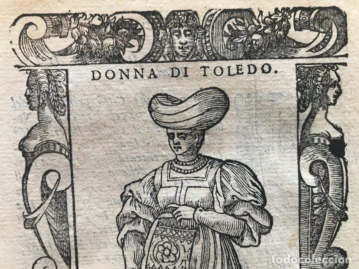 Arte: Xilografía de mujer Toledo (España), 1590. Vecellio/Krieger/Zenaro - Foto 6 - 261613945