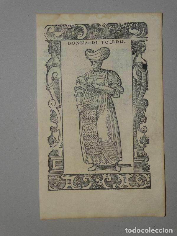 XILOGRAFÍA DE MUJER TOLEDO (ESPAÑA), 1590. VECELLIO/KRIEGER/ZENARO (Arte - Grabados - Antiguos hasta el siglo XVIII)