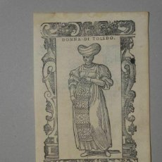 Arte: XILOGRAFÍA DE MUJER TOLEDO (ESPAÑA), 1590. VECELLIO/KRIEGER/ZENARO. Lote 261613945