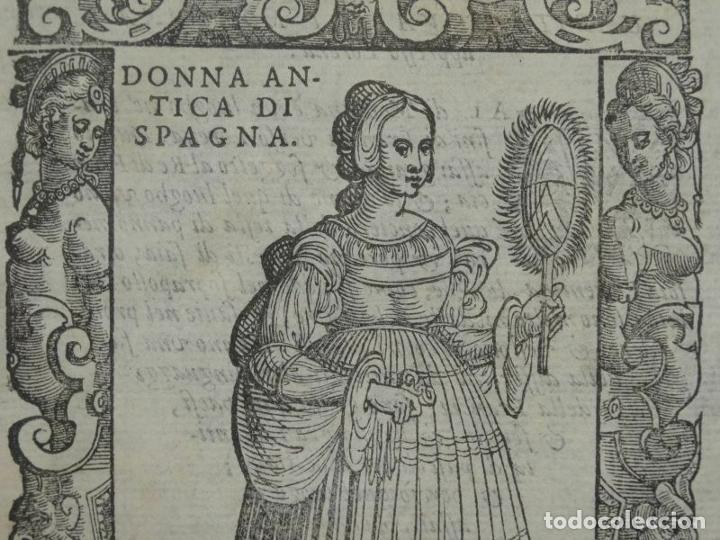 Arte: Xilografía de antigua mujer de España, 1590. Vecellio/Krieger/Zenaro - Foto 2 - 261616975