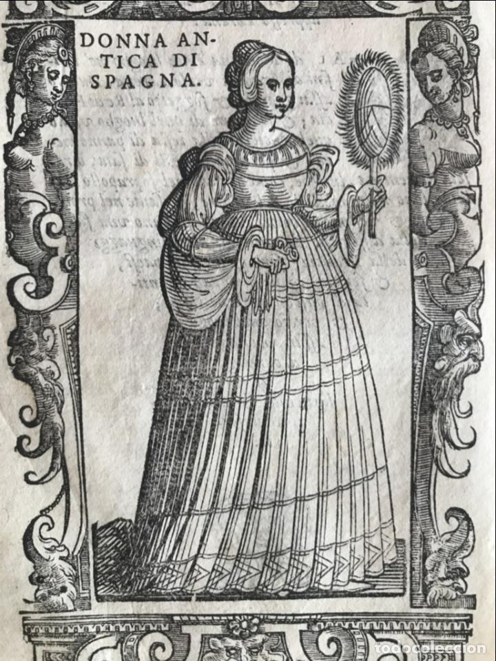Arte: Xilografía de antigua mujer de España, 1590. Vecellio/Krieger/Zenaro - Foto 5 - 261616975