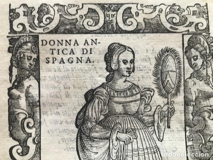 Arte: Xilografía de antigua mujer de España, 1590. Vecellio/Krieger/Zenaro - Foto 6 - 261616975