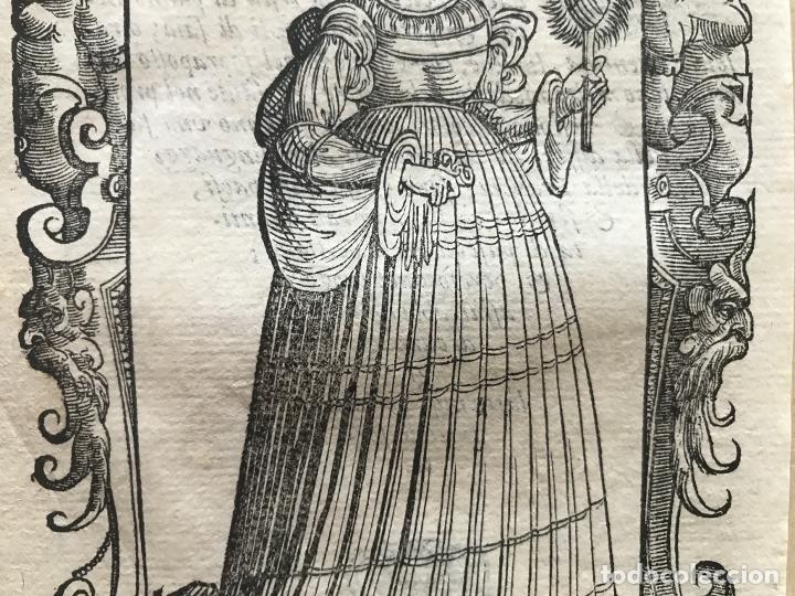 Arte: Xilografía de antigua mujer de España, 1590. Vecellio/Krieger/Zenaro - Foto 7 - 261616975