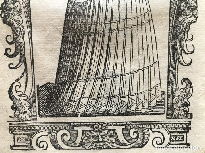 Arte: Xilografía de antigua mujer de España, 1590. Vecellio/Krieger/Zenaro - Foto 8 - 261616975