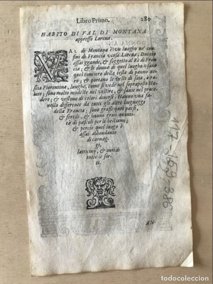 Arte: Xilografía de antigua mujer de España, 1590. Vecellio/Krieger/Zenaro - Foto 9 - 261616975