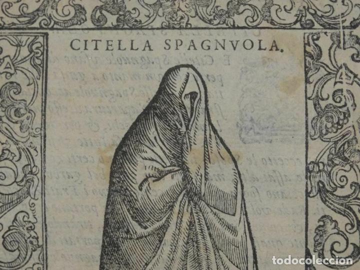 Arte: Xilografía de una soltera de España , 1590. Vecellio/Krieger/Zenaro - Foto 2 - 261619245