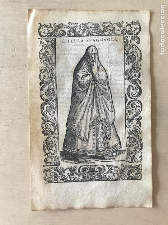 Arte: Xilografía de una soltera de España , 1590. Vecellio/Krieger/Zenaro - Foto 4 - 261619245