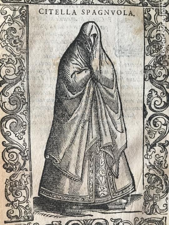 Arte: Xilografía de una soltera de España , 1590. Vecellio/Krieger/Zenaro - Foto 5 - 261619245