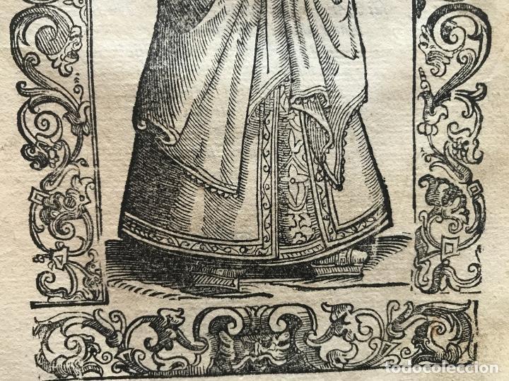Arte: Xilografía de una soltera de España , 1590. Vecellio/Krieger/Zenaro - Foto 7 - 261619245