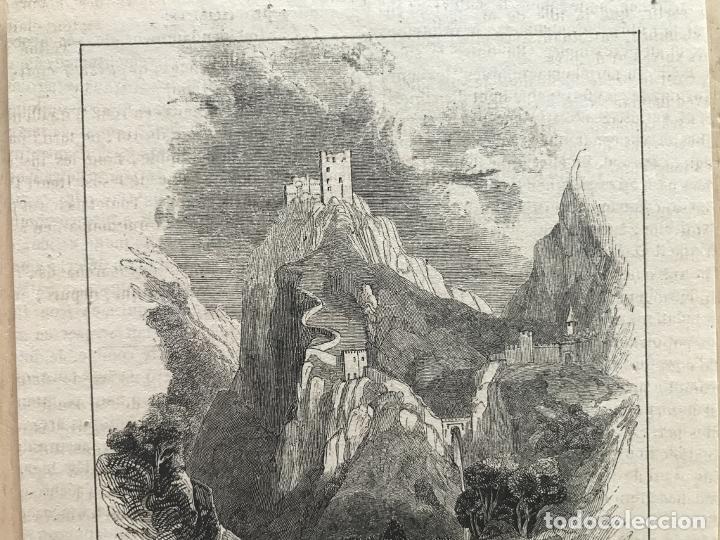 Arte: Vista panorámica del castillo de Luque (Córdoba, España), 1843. Anónimo - Foto 3 - 261697530