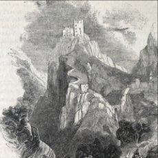 Arte: VISTA PANORÁMICA DEL CASTILLO DE LUQUE (CÓRDOBA, ESPAÑA), 1843. ANÓNIMO. Lote 261697530