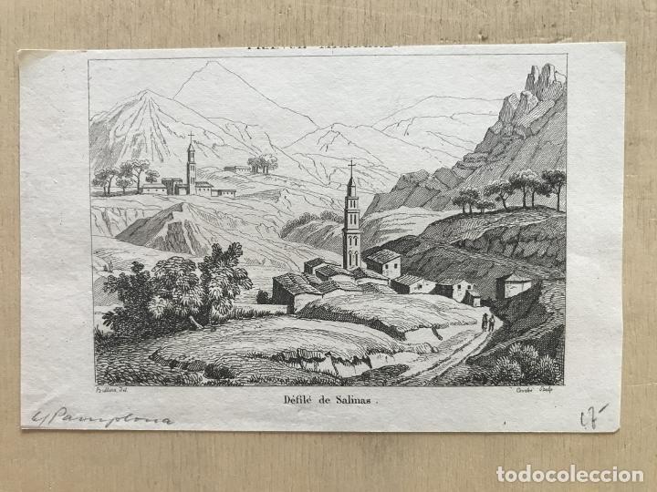 Arte: Desfiladero de Salinas en Pamplona (Navarra, España), hacia 1850. Bulluca/Couche - Foto 2 - 261699795