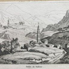 Arte: DESFILADERO DE SALINAS EN PAMPLONA (NAVARRA, ESPAÑA), HACIA 1850. BULLUCA/COUCHE. Lote 261699795