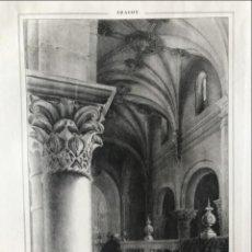 Arte: INTERIOR DE LA CATEDRAL DE JACA EN HUESCA (ARAGÓN, ESPAÑA), HACIA 1840. PARCERISA Y BOADA. Lote 261782115