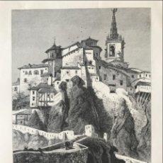 Arte: VISTA DEL PUENTE DE SAN PABLO EN CUENCA (CASTILLA, ESPAÑA), HACIA 1850. ANÓNIMO. Lote 261784990