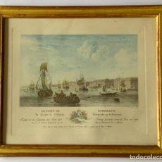 Arte: GRABADO PUERTO BURDEOS NICOLAS MARIE OZANNE (S.XVIII). Lote 261815755
