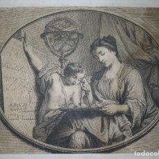 Arte: GRABADO ANTIGUO DEL SIGLO 18 ,LES MATEMATIQUES. Lote 262026860