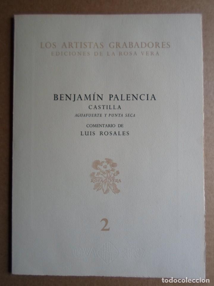 Arte: Benjamín Palencia (Albacete 1894-Mad80) grabado 1956 en 50x34 poema firma Luis Rosales (Granada10) - Foto 2 - 262123875