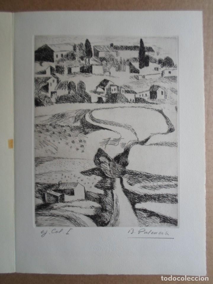 Arte: Benjamín Palencia (Albacete 1894-Mad80) grabado 1956 en 50x34 poema firma Luis Rosales (Granada10) - Foto 3 - 262123875