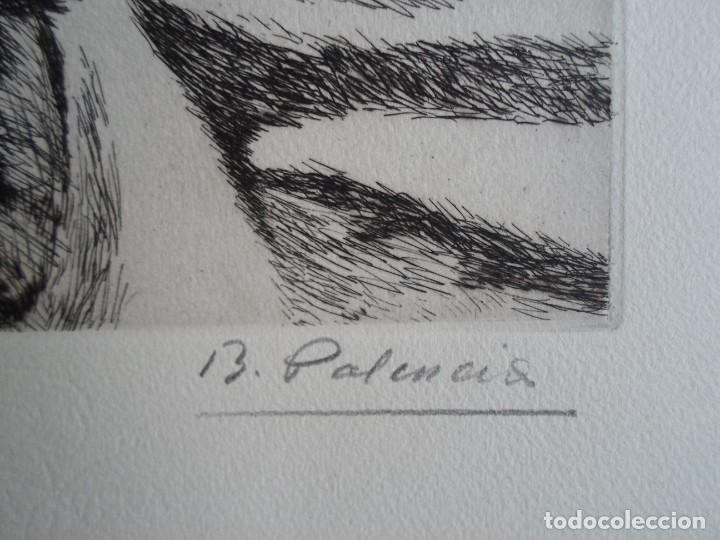 Arte: Benjamín Palencia (Albacete 1894-Mad80) grabado 1956 en 50x34 poema firma Luis Rosales (Granada10) - Foto 5 - 262123875