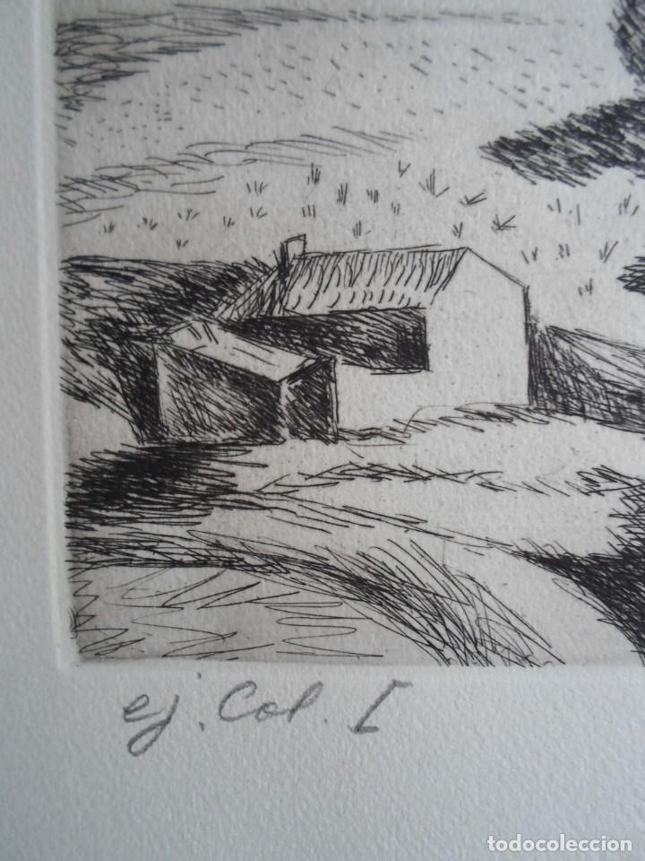 Arte: Benjamín Palencia (Albacete 1894-Mad80) grabado 1956 en 50x34 poema firma Luis Rosales (Granada10) - Foto 6 - 262123875