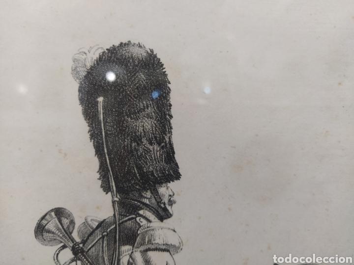 Arte: Grabado GRANADEROS DE LA GUARDIA REAL - Foto 3 - 262131630