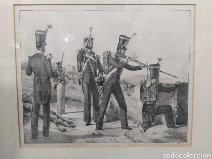 GRABADO INFANTERÍA LIGERA (Arte - Grabados - Modernos siglo XIX)