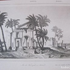Arte: VISTA DEL ARCO DEL TRIUNFO EN ANTINOE (EGIPTO), CIRCA.1850. LEMAITRE. Lote 262138305