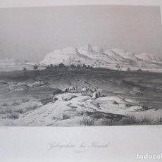 Arte: VISTA DE LA CORDILLERA EN KENNEH (EGIPTO), 1850. GEYER/PAYNE. Lote 262138365