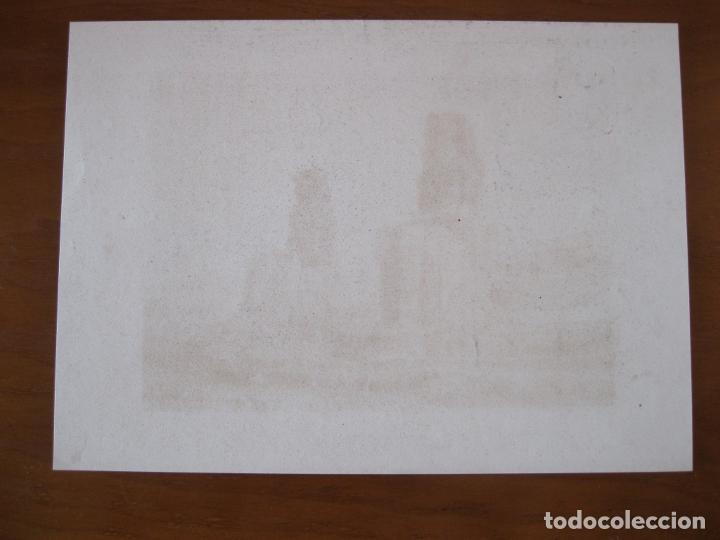 Arte: Vista de los colosos de Memnon, cerca de Luxor (Egipto) 1850. Inst. Hildburghausen - Foto 3 - 262138485