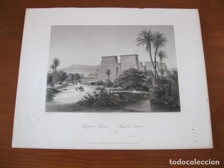 Arte: Vista del Templo de Karnac (Egipto), 1850. Payne - Foto 2 - 262138985