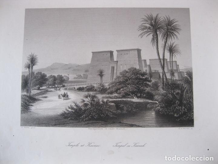 VISTA DEL TEMPLO DE KARNAC (EGIPTO), 1850. PAYNE (Arte - Grabados - Modernos siglo XIX)