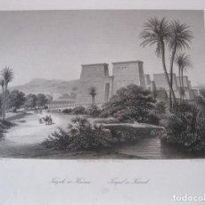 Arte: VISTA DEL TEMPLO DE KARNAC (EGIPTO), 1850. PAYNE. Lote 262138985