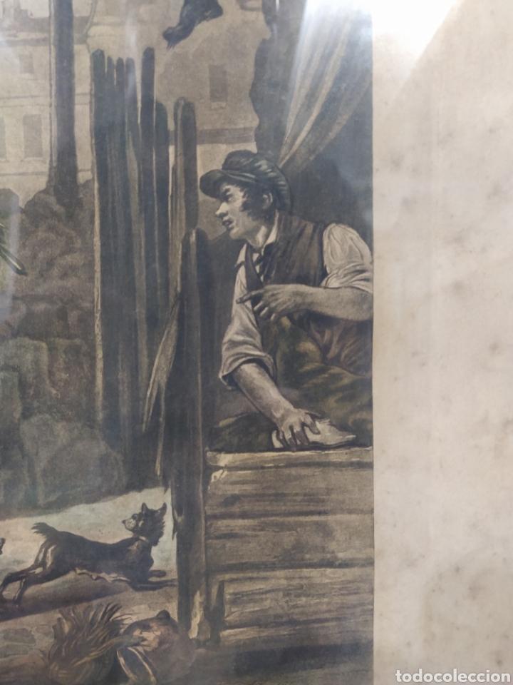 Arte: Grabado francés - LA DANSE DES CHIENS EN DESORDE - Foto 2 - 262148355