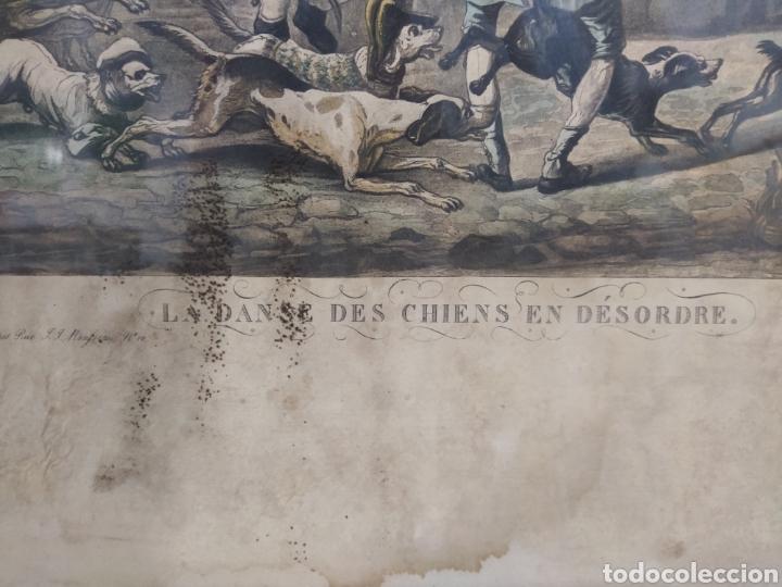 Arte: Grabado francés - LA DANSE DES CHIENS EN DESORDE - Foto 5 - 262148355
