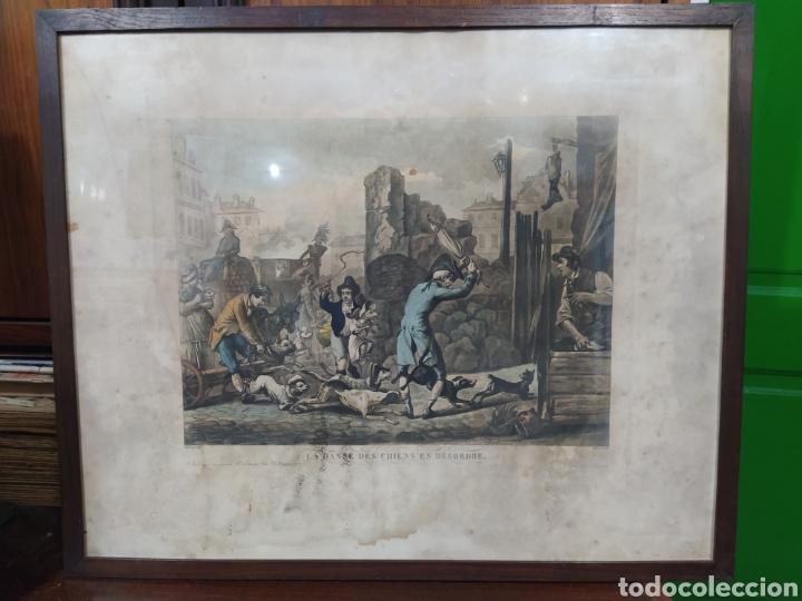 Arte: Grabado francés - LA DANSE DES CHIENS EN DESORDE - Foto 7 - 262148355