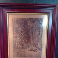 Arte: GRABADO SOBRE LÁMINA DE COBRE , ESCENA DEL QUIJOTE H DORE-H.PISAN. Lote 262221895