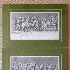 Arte: 2 GRABADOS ITALIANOS DEL SIGLO XVIII. ESCENAS CLASICAS. Lote 262236820