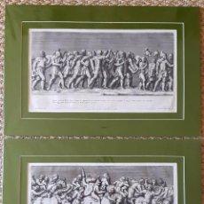 Arte: 2 GRABADOS ITALIANOS DEL SIGLO XVIII. ESCENAS CLÁSICAS. Lote 262237030