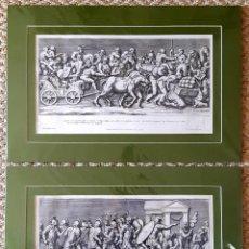 Arte: 2 GRABADOS ITALIANOS DEL SIGLO XVIII. ESCENAS CLÁSICAS. Lote 262237280