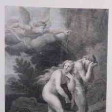 Arte: LÁMINA ADAN Y EVA ARROJADOS DEL PARAÍSO/ADAM ET EVE CHASSÉS DU PARADIS SIGLO XX. Lote 262281165