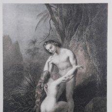Arte: LÁMINA ADAN PERDONA A EVA/LE PARDON D'ADAM SIGLO XX. Lote 262281770