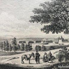 Arte: VISTA DEL PALACIO Y LOS JARDINES REALES DE ARANJUEZ (MADRID, ESPAÑA), HACIA 1830. ANÓNIMO. Lote 262363095