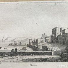 Arte: VISTA DEL PUERTO DE ALICANTE, 1837. Lote 262368860