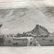 Arte: VISTA PANORÁMICA DE ALICANTE (VALENCIA, ESPAÑA), HACIA 1820. ANÓNIMO. Lote 262386890